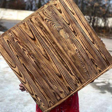 Деревянный фотофон Золотой фактурный со стариной, фото 2