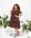 Свободное шифоновое платье в крупный цветок батал Размеры: 50.52.54.56.58.60.62.64., фото 2