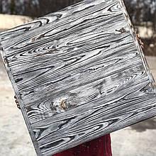 Деревянный фотофон Хром фактурный со стариной