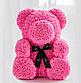 Мишка из искусственных роз 25 см (6 цветов), фото 3