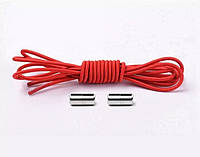 Шнурки резиновые круглые 1 м , цвет красный