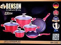 Набор посуды с мраморным покрытием Benson BN-335