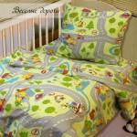 Детское постельное белье от украинского производителя бязь Веселые дороги