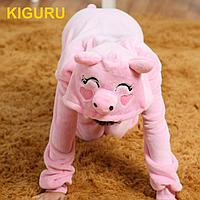 Пижама костюм кигуруми свинка Длинный, Унисекс, 80-100 см