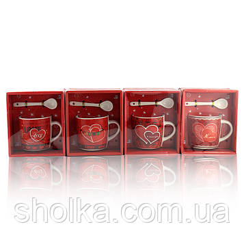 Чашка с ложечкой в подарочной упаковке Love