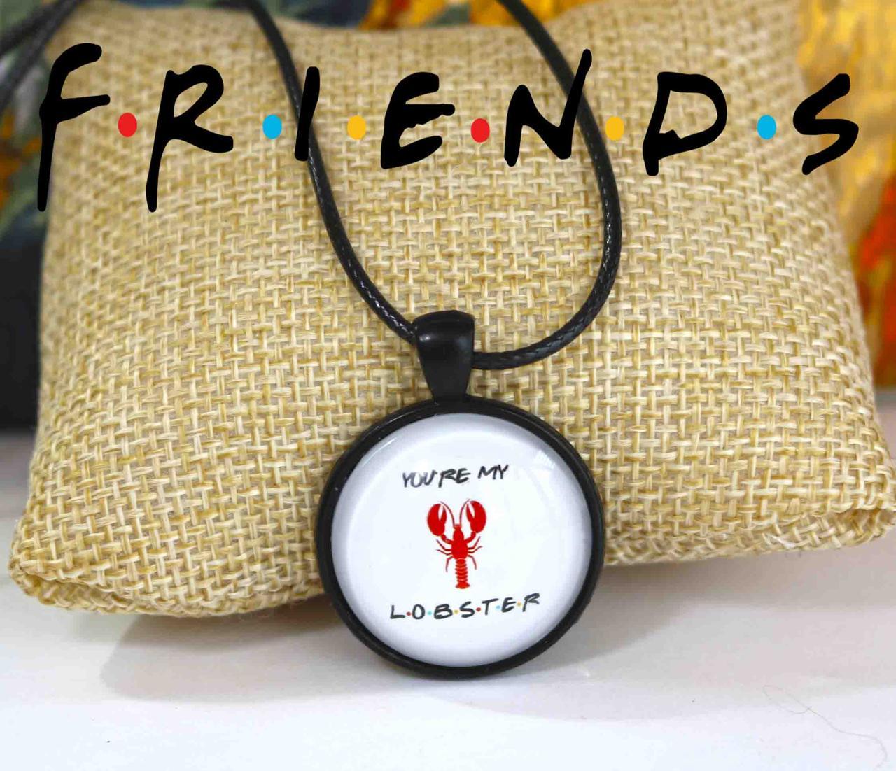 """Кулон Друзья/Friends """"You're My Lobster"""" белый"""