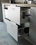 Кухня з фасадами з пластику на основі МДФ довільної конфігурації. На фото - 2,5 м, фото 4