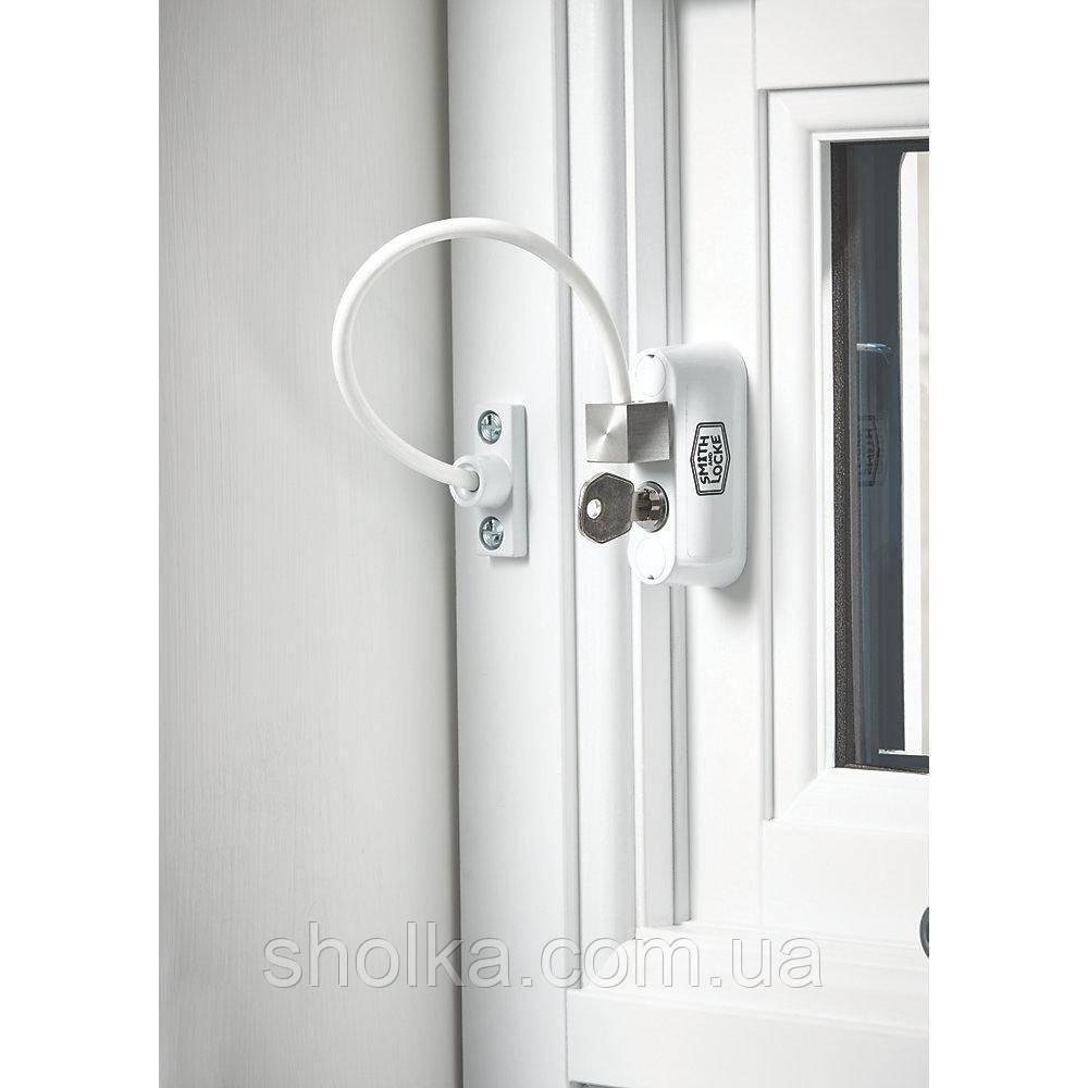Блокиратор открывания окна от детей WINDOW Restrictor, белый