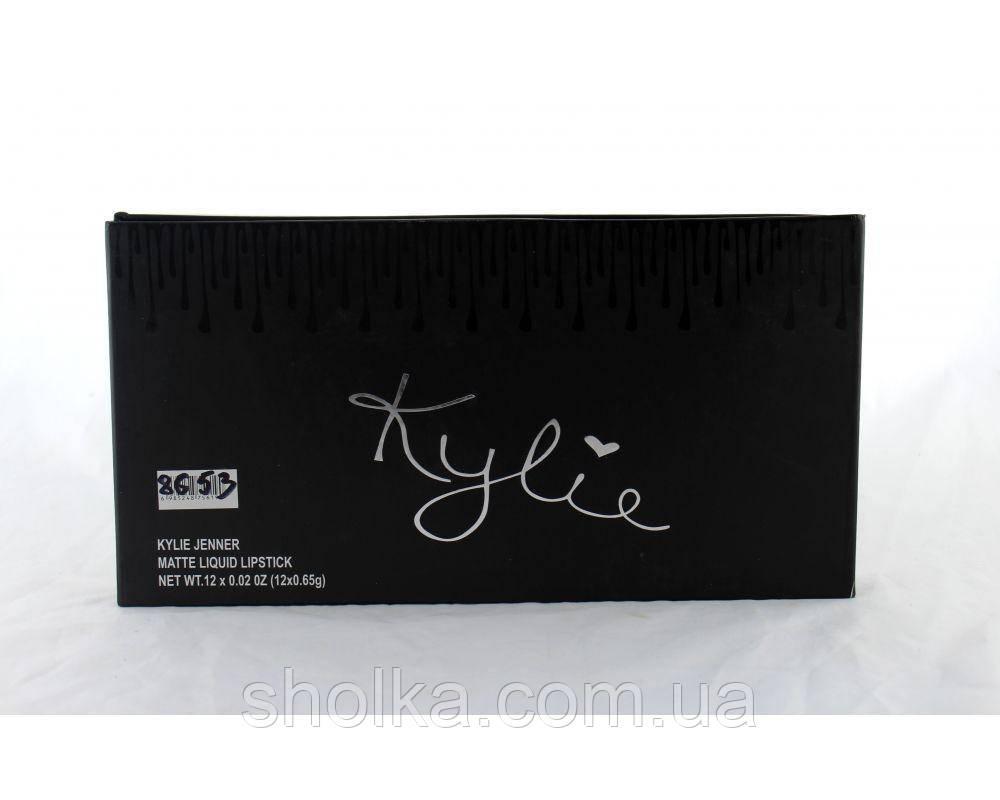 Набор жидких матовых помад Kylie 8653 (12 шт. в уп .Помада Кайли. Набор жидких матовых помад 12 в 1