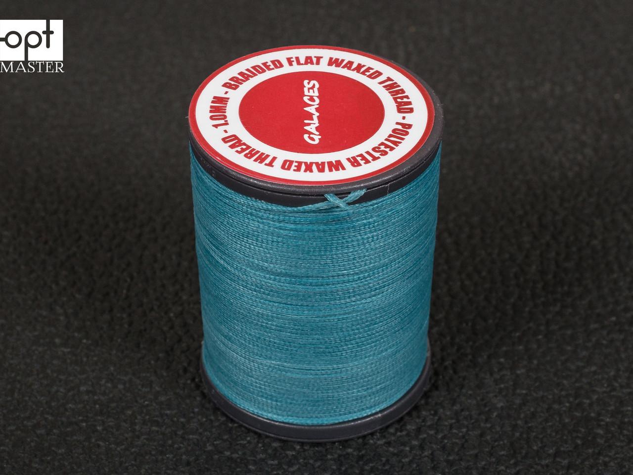 Galaces 1.00мм светло-синий (S067) плоский шнур вощёный по коже