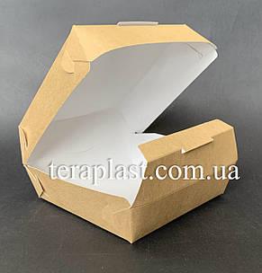 """Коробка для бургеров, сендвичей """"Миди"""" 110х110х65 мм (Крафт), фото 2"""