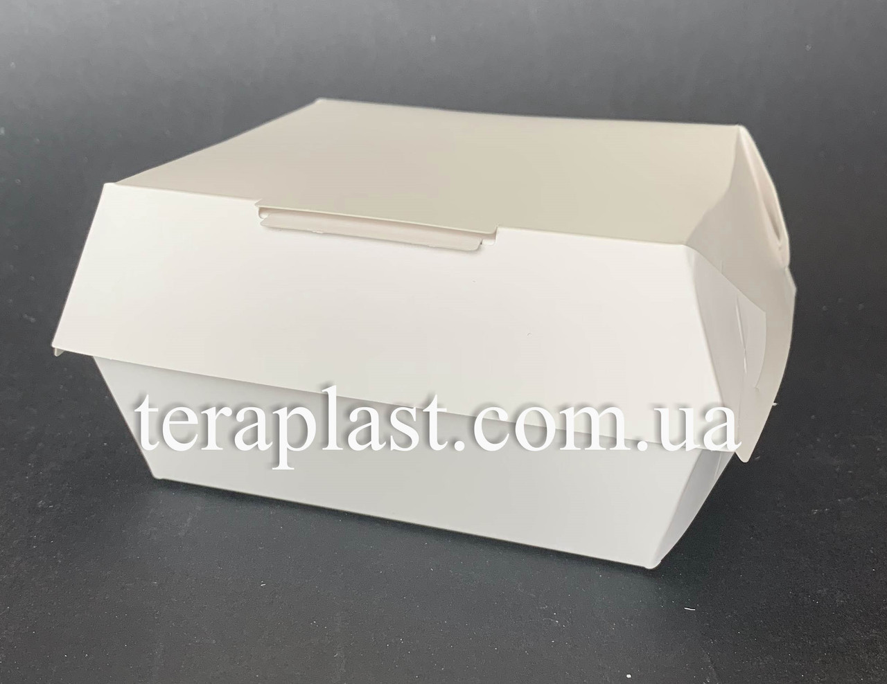 """Упаковка """"Мини"""" для бургеров 100х90х60 мм (Белая)"""