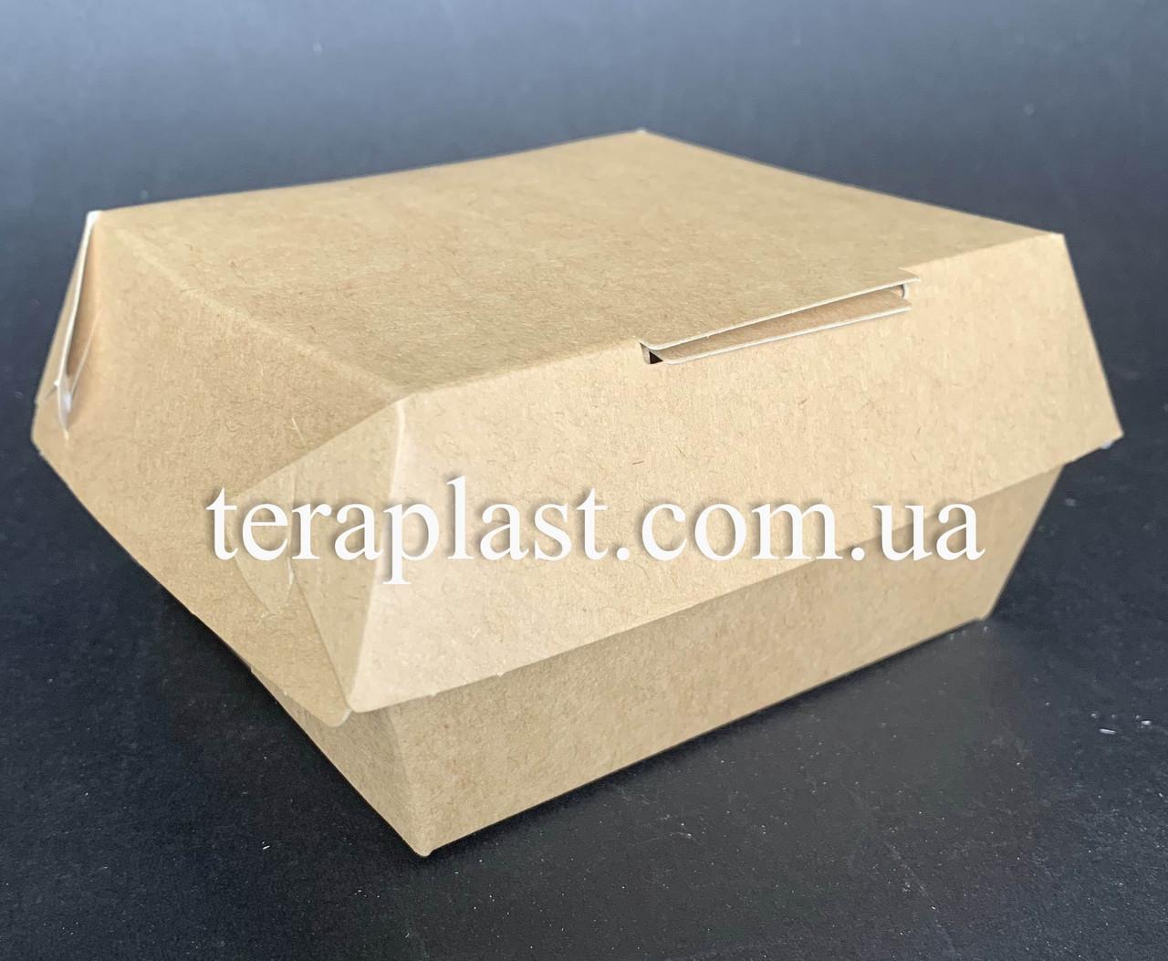 """Коробка для бургеров, сендвичей """"Мини"""" 100х90х60 мм (Крафт)"""