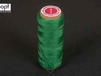 Galaces 0.80мм зеленый (S066) плоский шнур вощёный по коже