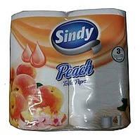 """Туалетная бумага """"Sindy"""" с ароматом персика 4 рул"""