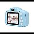 """Цифровий дитячий фотоапарат дисплей 2"""" функція фото і відео Full HD UKC GM14 блакитний, фото 3"""