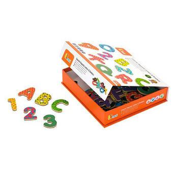 """Детский набор магнитных букв и цифр Viga Toys """"Буквы и цифры"""" (59429)"""