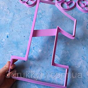 Вирубка ТОРТ - ЦИФРА #1 32 див. / Вирубка - форма для торта - цифри, коржів 32 див.
