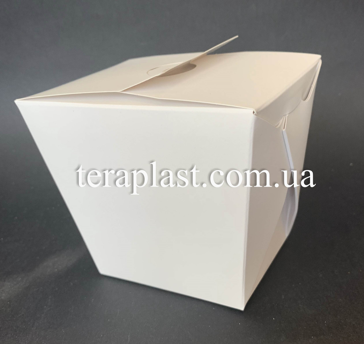 """Коробка для лапши и салатов (Паста Бокс) """"Миди+"""" 500 мл (Белая)"""