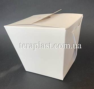 """Коробка для лапши и салатов (Паста Бокс) """"Миди+"""" 500 мл (Белая), фото 2"""