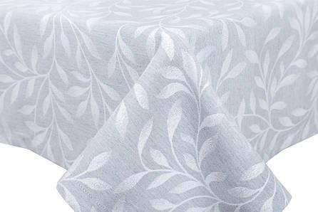 Скатертина LiMaSo 135*260 см поліестер сіра з вензелями арт.NIGHT010.C080-260.135х260, фото 2