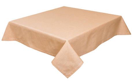Скатертина LiMaSo 130*140 см бавовняна пісочна арт.PRASEL65-140.130x140, фото 2