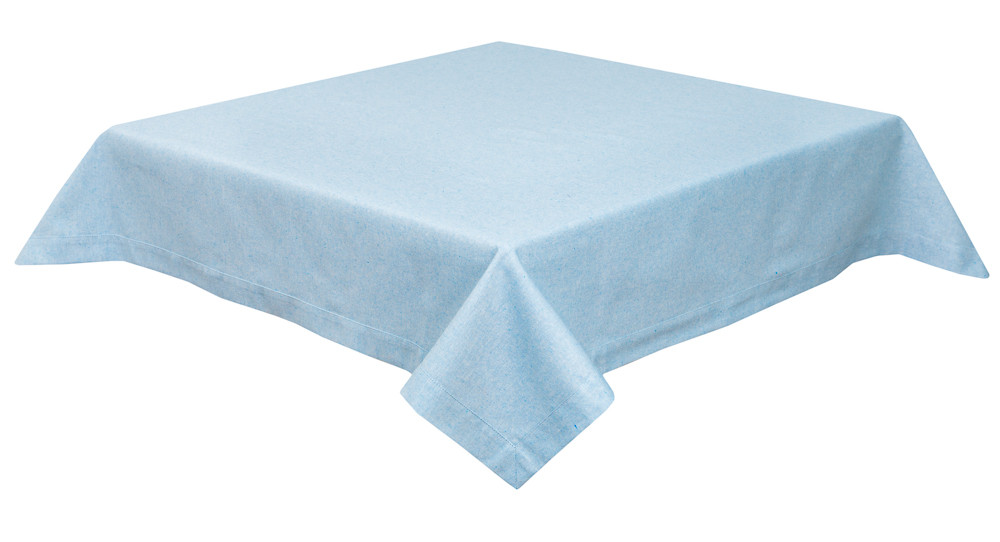 Скатертина LiMaSo 130*140 см блакитна бавовняна арт.PRASEL49-140.130x140