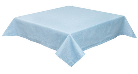 Скатертина LiMaSo 130*140 см блакитна бавовняна арт.PRASEL49-140.130x140, фото 2