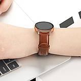 Ремешок для Samsung Active | Active 2 | Galaxy watch 42mm кожаный 20мм размер L Коричневый BeWatch (1220106), фото 4