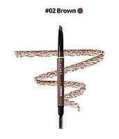 Стойкий карандаш для идеальных бровей  Tinchew Triangle Eyebrow Pencil # 2 – коричневый