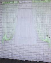 """Декоративний комплект комбінація зі шторами-нитками """"Серпанок"""" 3,м*2,5 м. Код 029дк (160-033) е 810"""