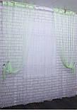 """Декоративний комплект комбінація зі шторами-нитками """"Серпанок"""" 3,м*2,5 м. Код 029дк (160-033) е 810, фото 3"""