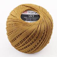 Пряжа Lily 50гр - 225м (0351 Горчичный) YarnArt