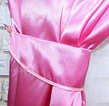 Комплект готовых штор из атласа. Цвет розовый. №05, фото 4