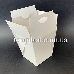 """Коробка для лапши и салатов (Паста Бокс) """"Миди"""" 400 мл (Белая), фото 2"""