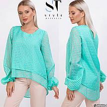 Суперстильная блузка с асимметричным низом /разные цвета, 42-46, ST-62563/, фото 3