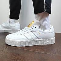 Женские кроссовки Adidas Samba (белые) 12188