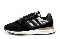Мужские кроссовки Adidas ZX 500 (черно-белые) 12194