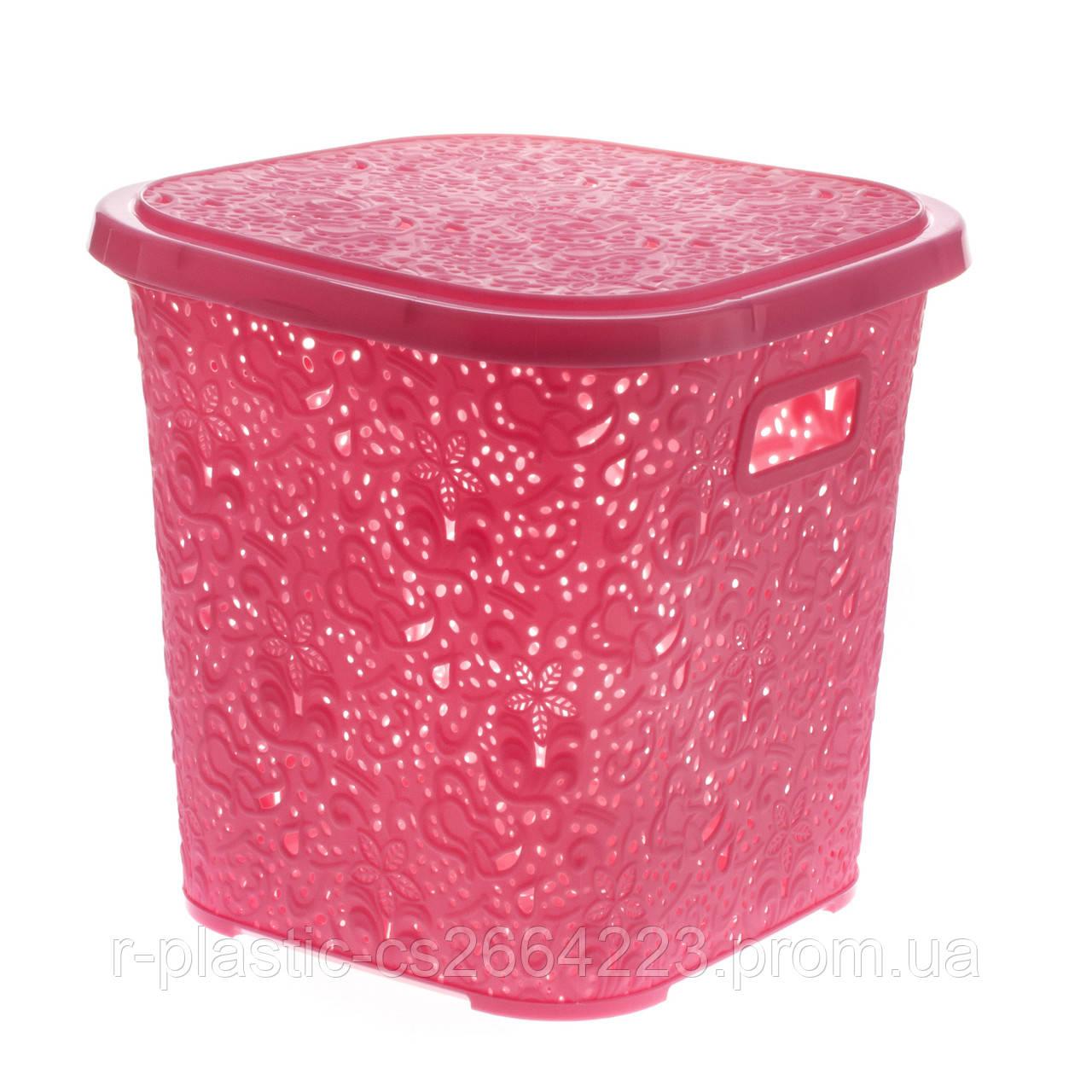 """Кошик R-Plastic """"Ажур"""" 15л 29*29*28см рожева"""
