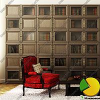 Книжный шкаф со стеклом Ш. 2400 - Г. 285 - В. 2030 мм.