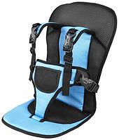 Бескаркасное автокресло MDN Mylti-Function Car Cushion Черный с голубым AC-0001, КОД: 1645854