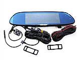 Зеркало регистратор Car DVR H10 1080P + камера заднего вида, фото 4