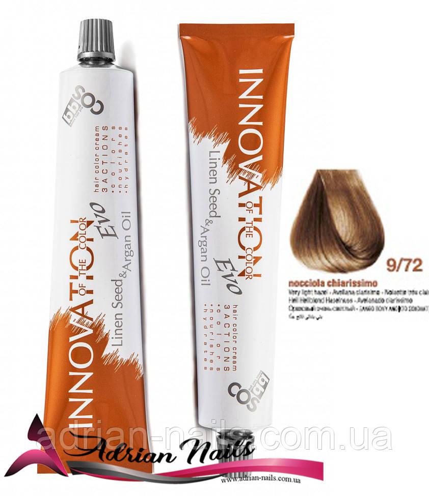 Профессиональная стойкая крем-краска для волос - BBCOS -  9/72, 100мл