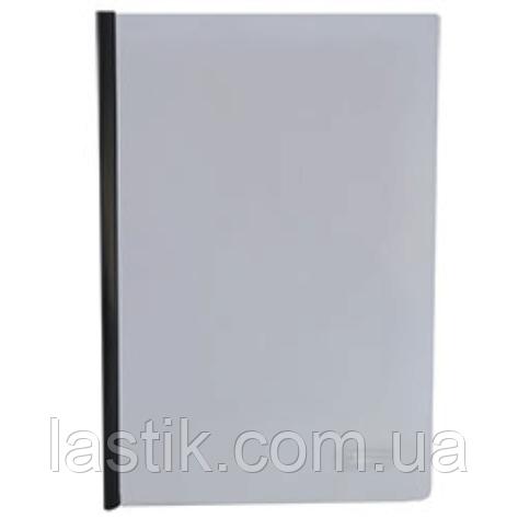 Папка-скоросшиватель с прижимной планкой, 6 мм, 160/160 мкм, ассорти, фото 2