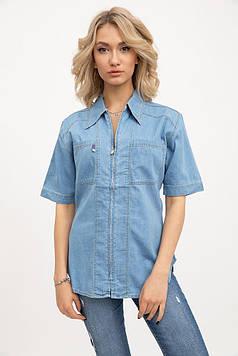 Рубашка женская цвет Голубой
