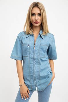 Рубашка женская цвет Светло-голубой