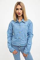 Куртка джинс женская  цвет Светло-голубой