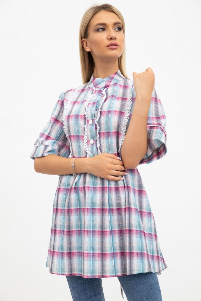 Рубашка женская цвет Серо-розовый