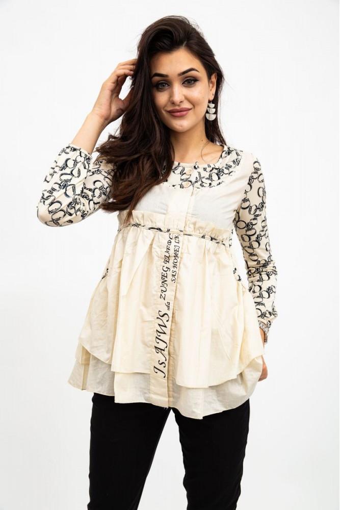 Рубашка женская цвет Бежевый