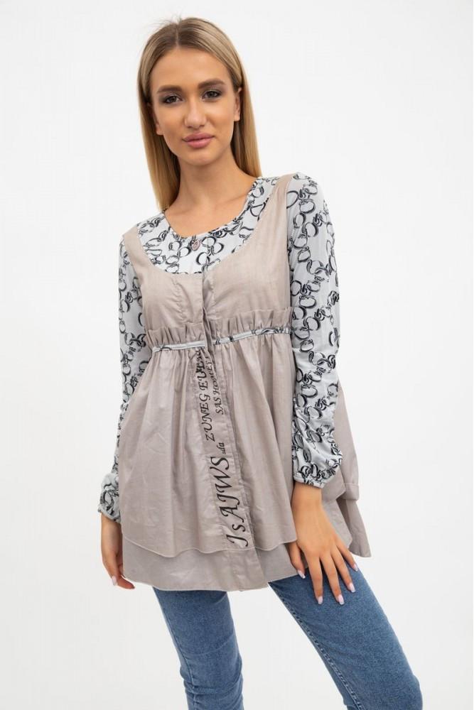 Рубашка женская цвет Кофейный